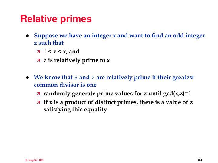 Relative primes