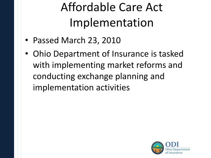 Affordable Care Act Implementation