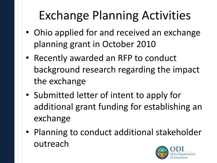Exchange Planning Activities