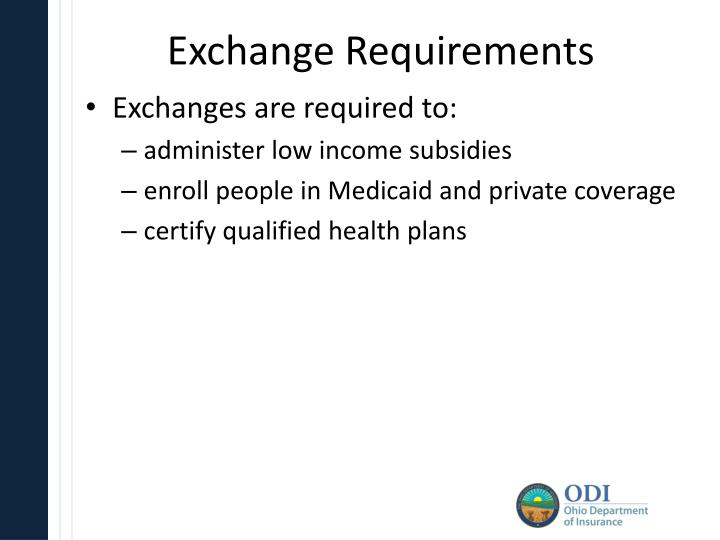 Exchange Requirements