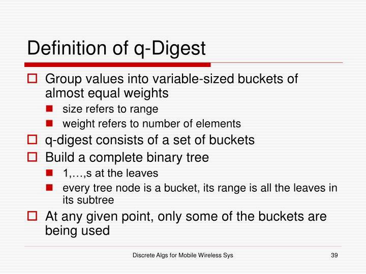 Definition of q-Digest