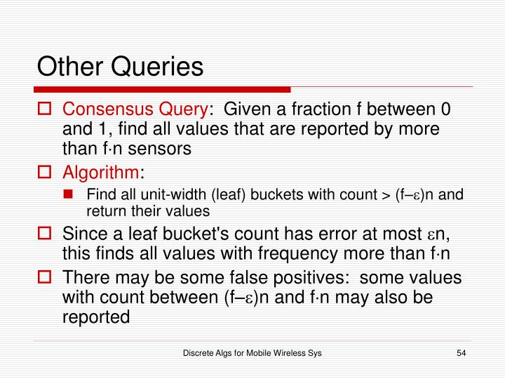 Other Queries