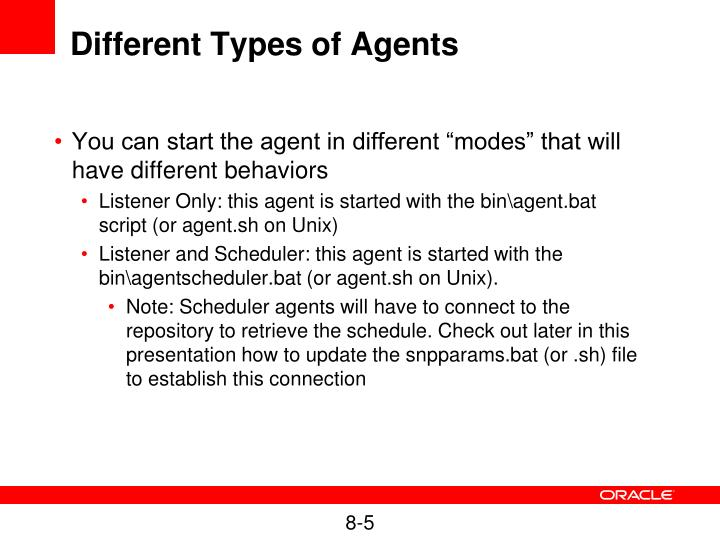 Different Types of Agents