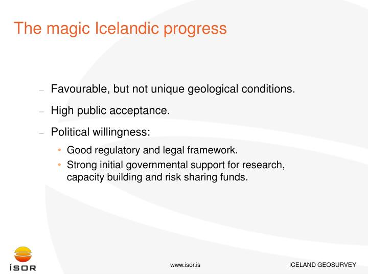 The magic Icelandic progress