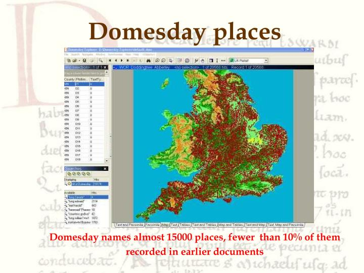 Domesday places