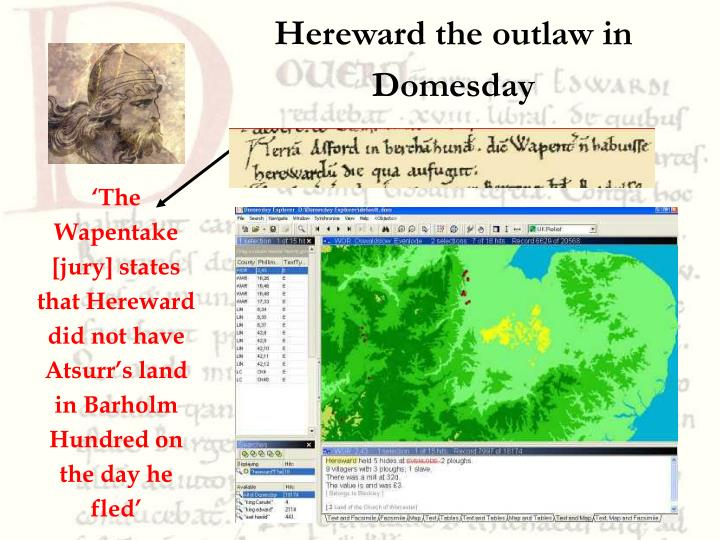 Hereward the outlaw in Domesday