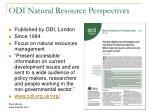 odi natural resource perspectives