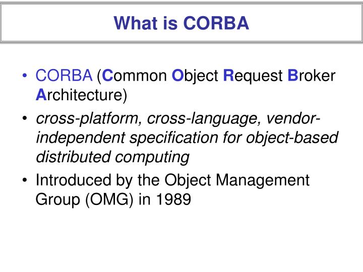 What is corba