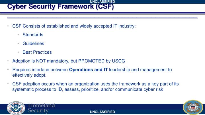 Cyber Security Framework (CSF)