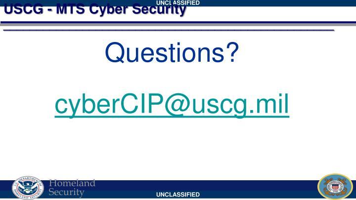 USCG - MTS Cyber Security