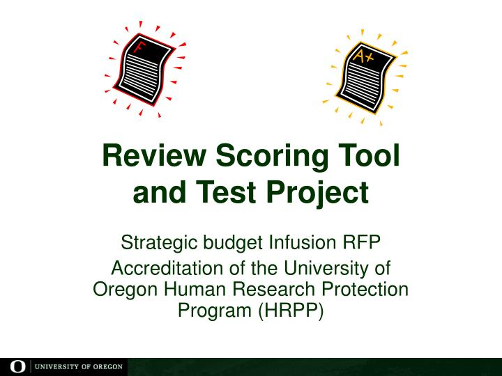 Review Scoring Tool
