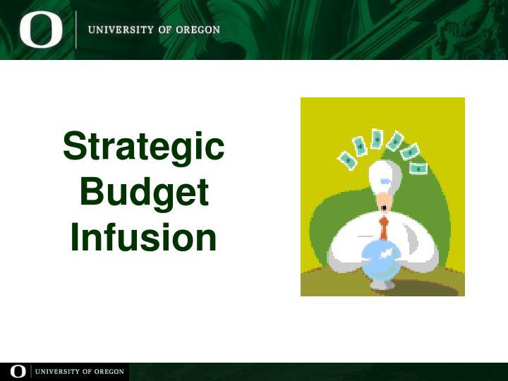 Strategic budget infusion