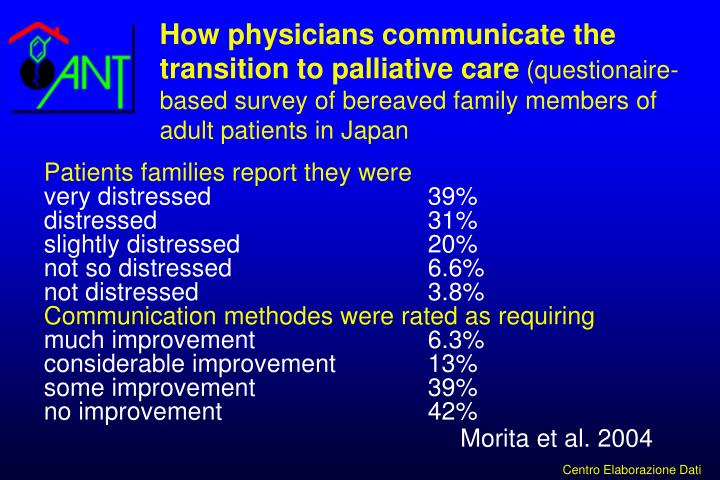 How physicians communicate the