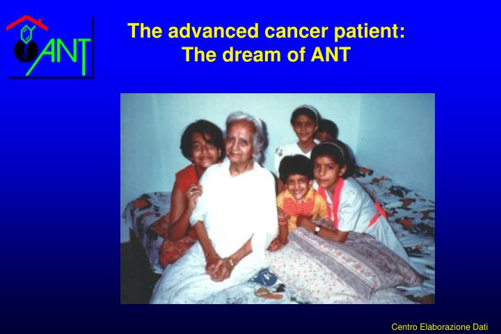 The advanced cancer patient: