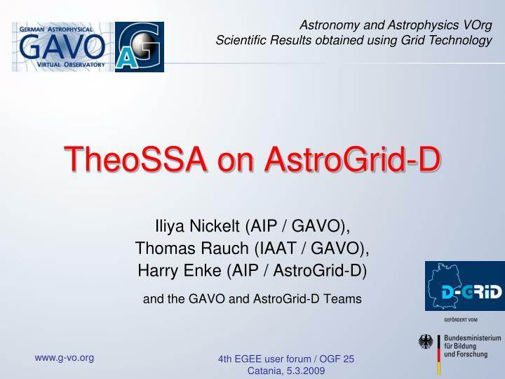 Theossa on astrogrid d