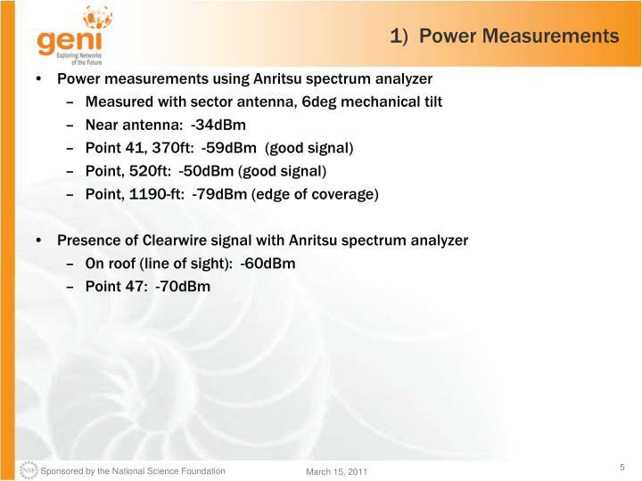 1)  Power Measurements