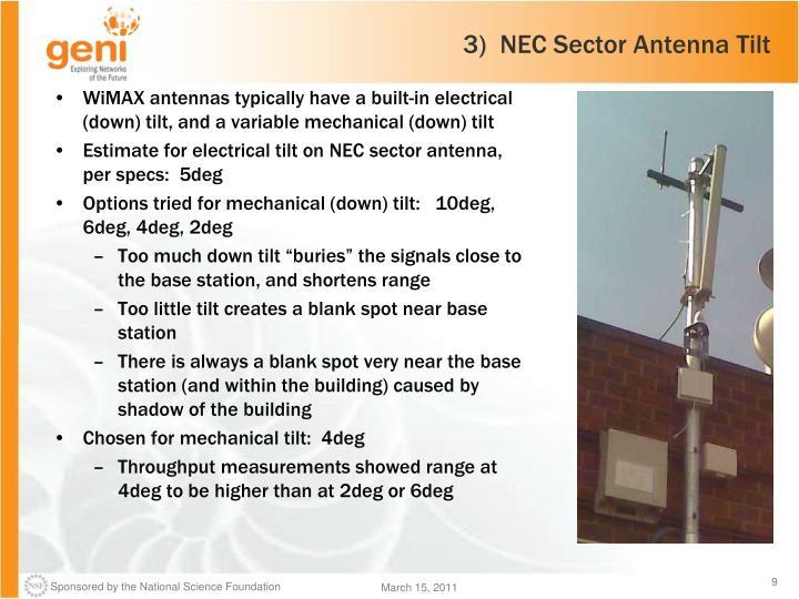 3)  NEC Sector Antenna Tilt