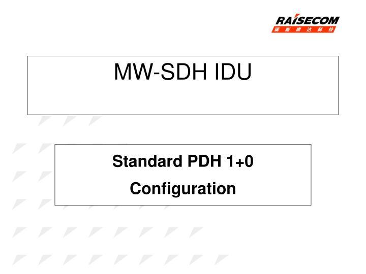 MW-SDH IDU