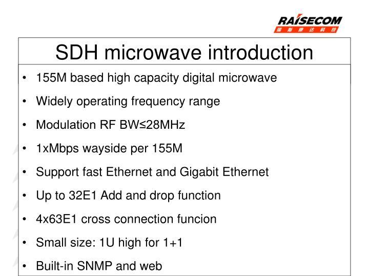 155M based high capacity digital microwave