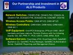 our partnership and investment in alu products