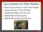 injury statistics for older workers