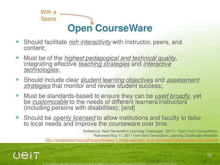 Open CourseWare