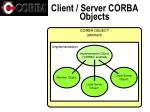 client server corba objects