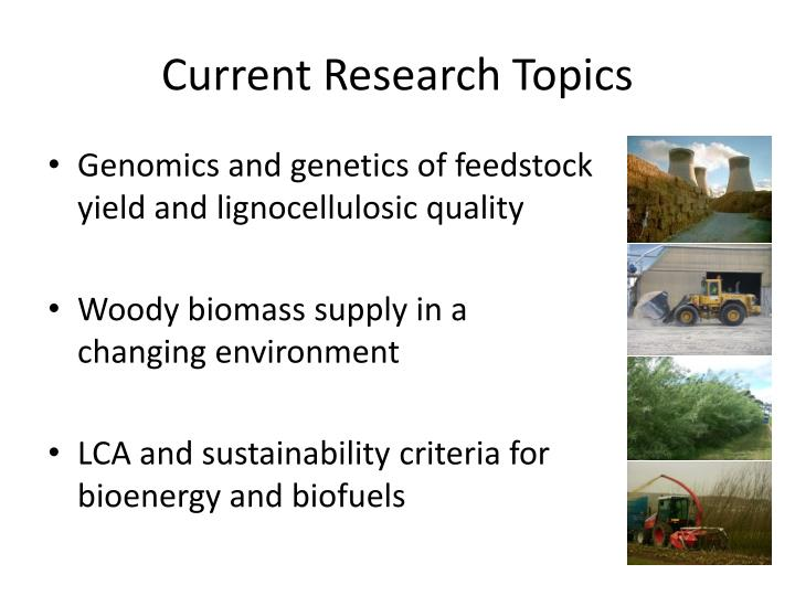 Current research topics