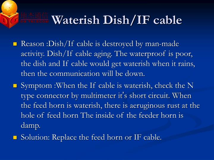 Waterish Dish/IF cable