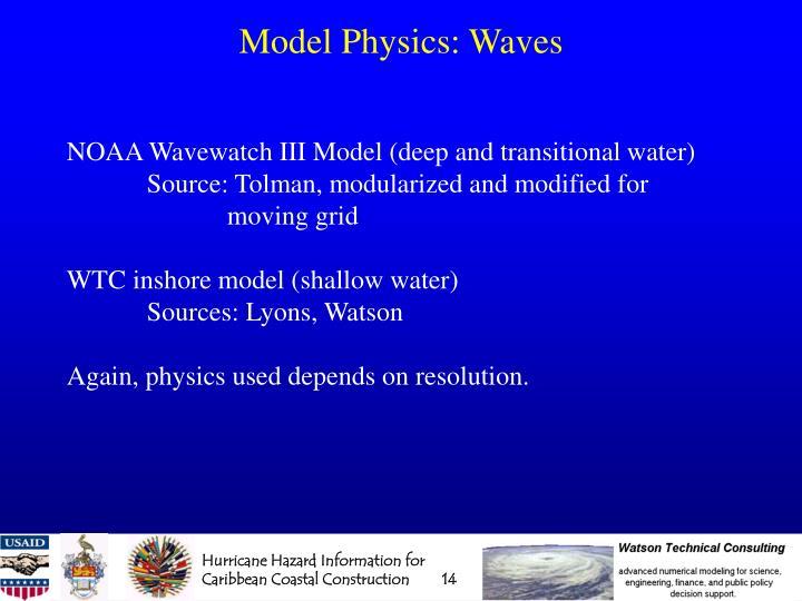 Model Physics: Waves
