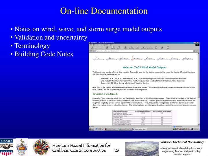 On-line Documentation