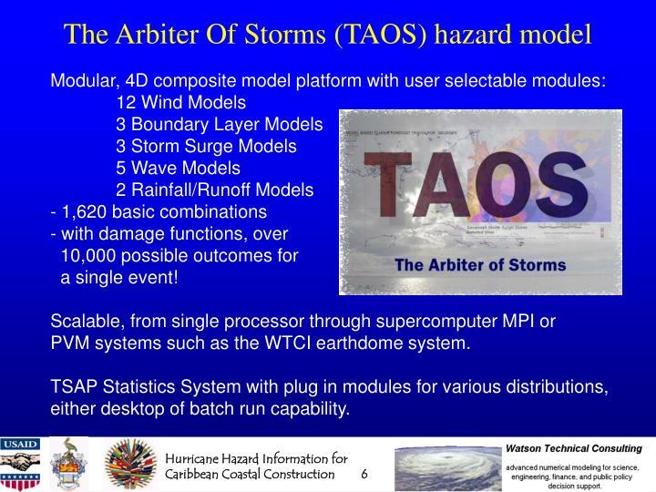 The Arbiter Of Storms (TAOS) hazard model