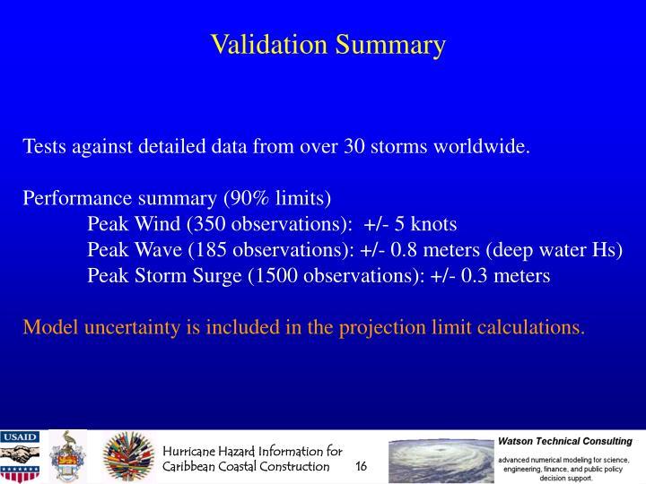 Validation Summary