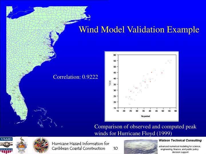 Wind Model Validation Example