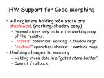 hw support for code morphing1
