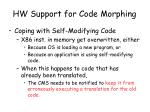 hw support for code morphing4