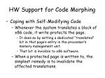 hw support for code morphing5