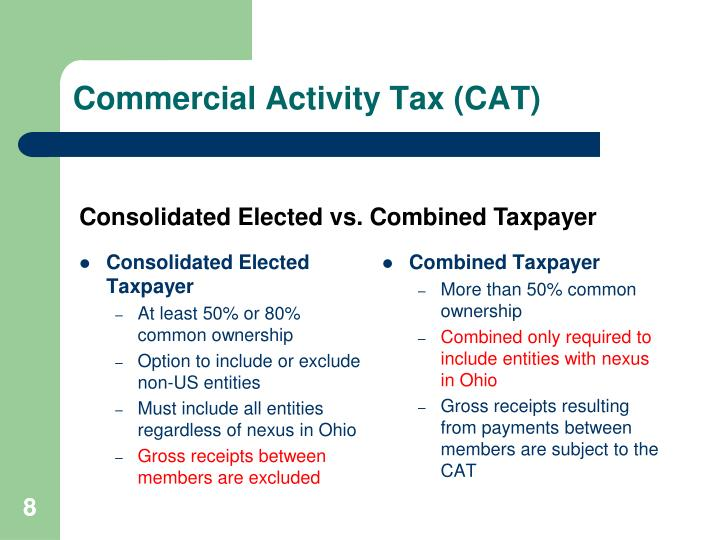 Commercial Activity Tax (CAT)