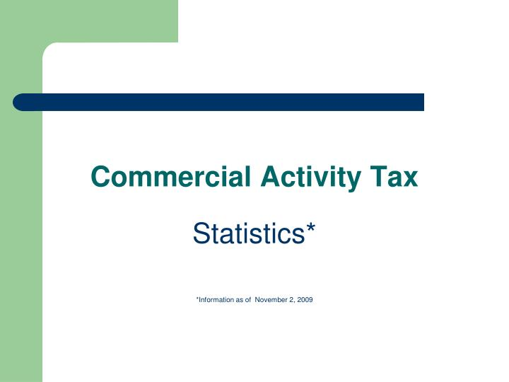 Commercial Activity Tax