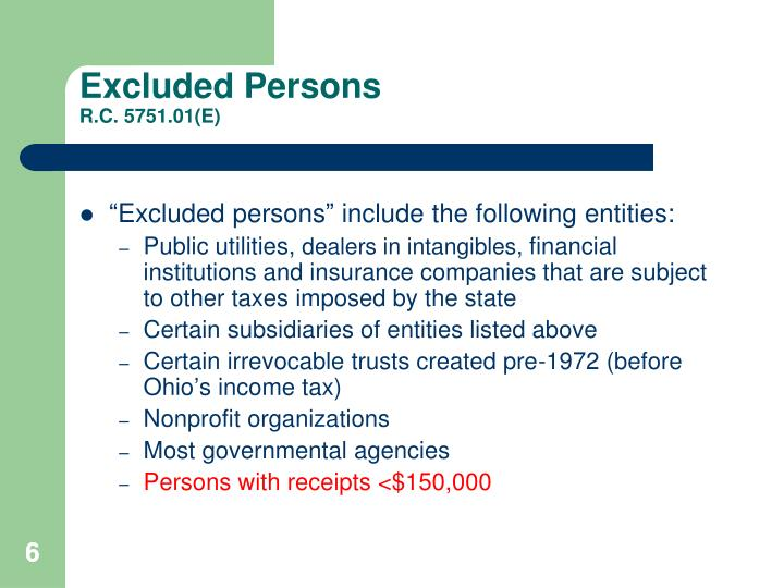 Excluded Persons