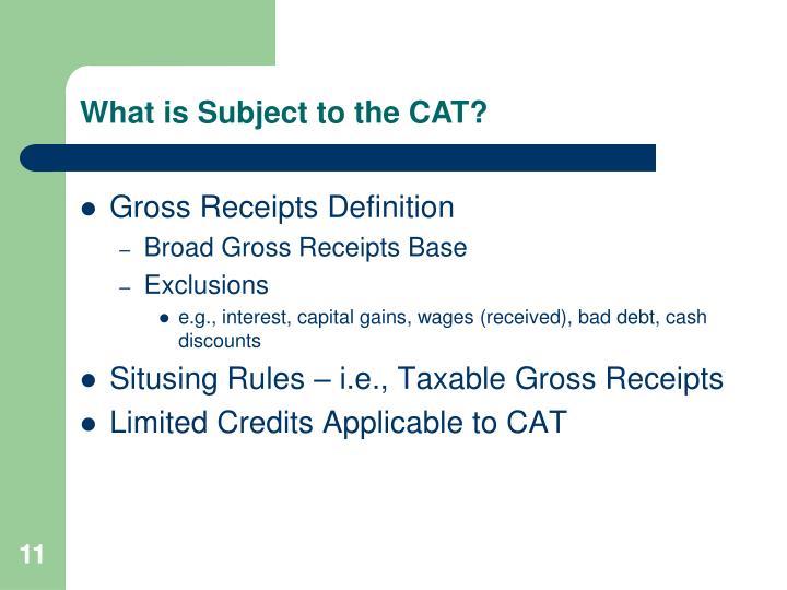 Gross Receipts Definition