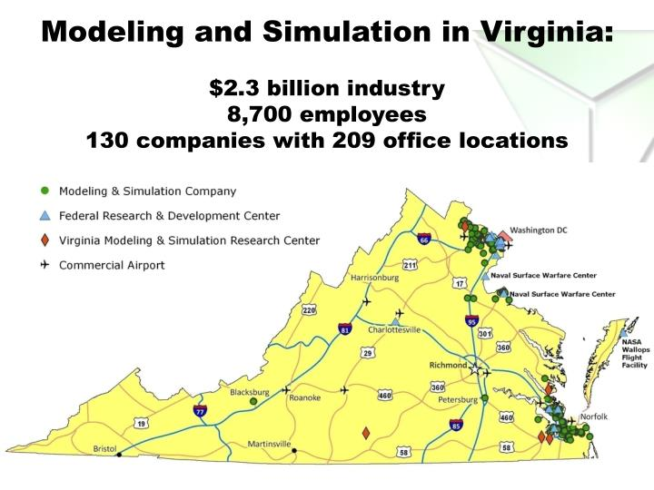 Modeling and Simulation in Virginia: