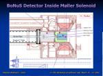 bonus detector inside m ller solenoid