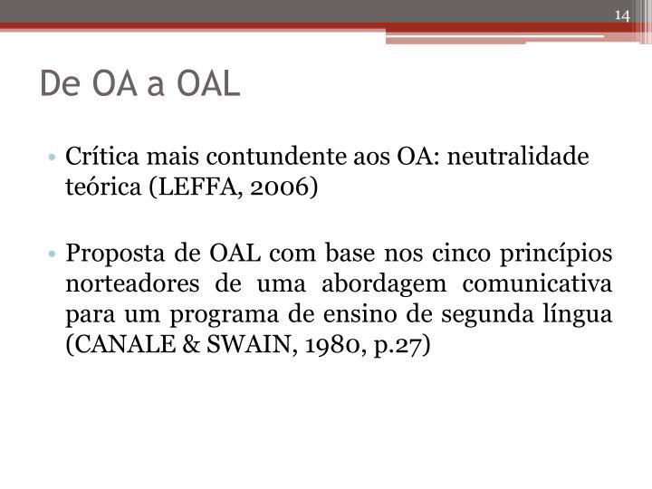 De OA a OAL