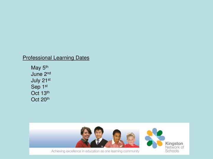 Professional Learning Dates