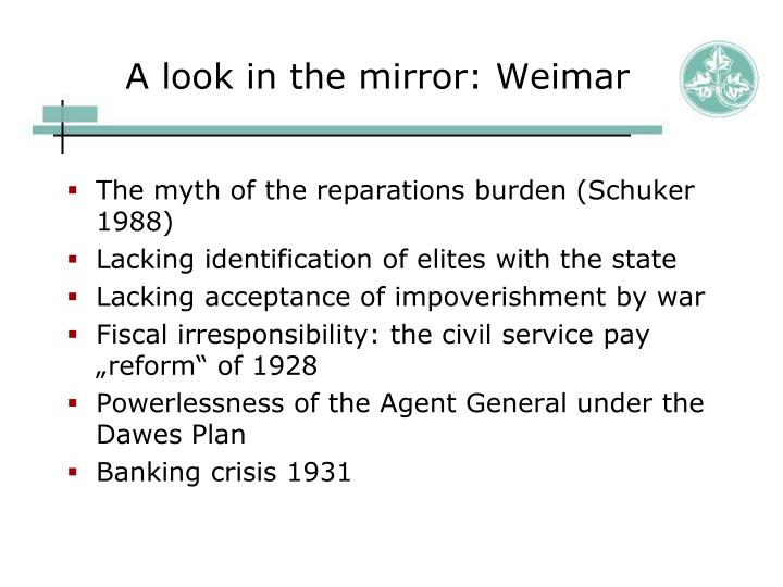 A look in the mirror: Weimar
