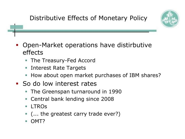 Distributive Effects of Monetary Policy