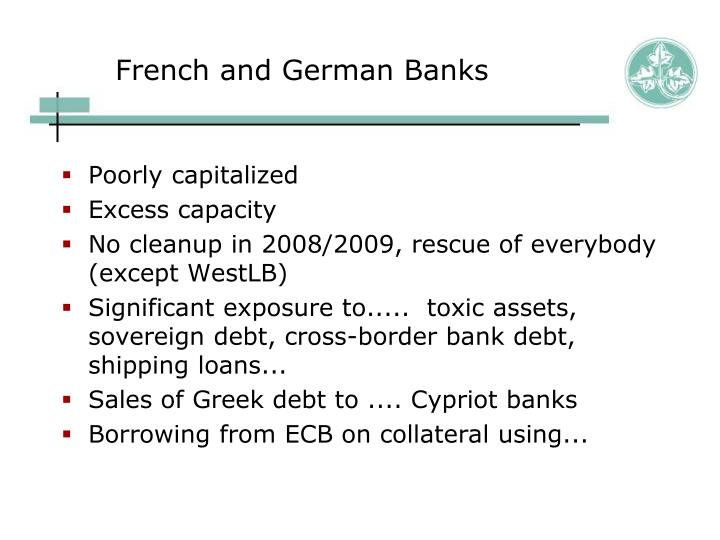 French and German Banks