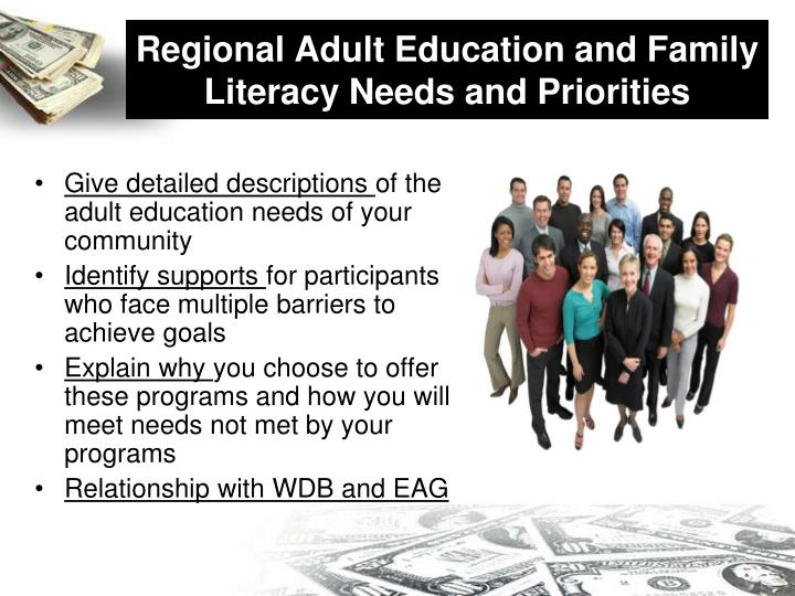 Regional Adult Education and Family Literacy Needs and Priorities