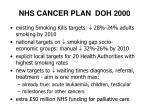 nhs cancer plan doh 2000